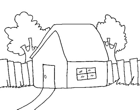 how to color a house house with fence coloring page coloringcrew com