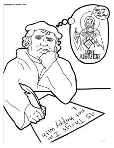5 Solas Coloring Page by Martin Luther Reformation Coloring Pages Sketch Coloring Page