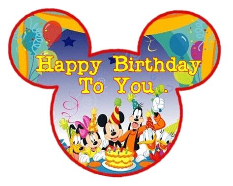 Happy Birthday Cards Characters Happy Birthday Images Disney Characters Holidays And
