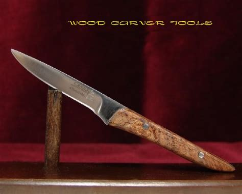 Handmade Wood Carving Knives - wood carver tools cannady usa custom made 6 quot spalted