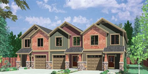 combined house multiplex investment properties duplex triplex and four plex house plans