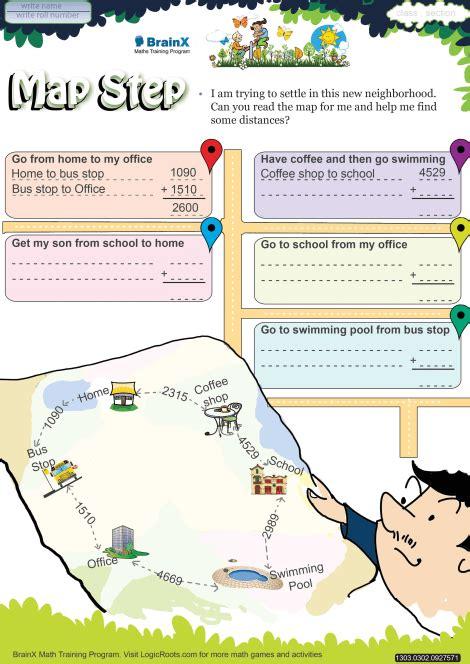 map step math worksheet  grade   printable