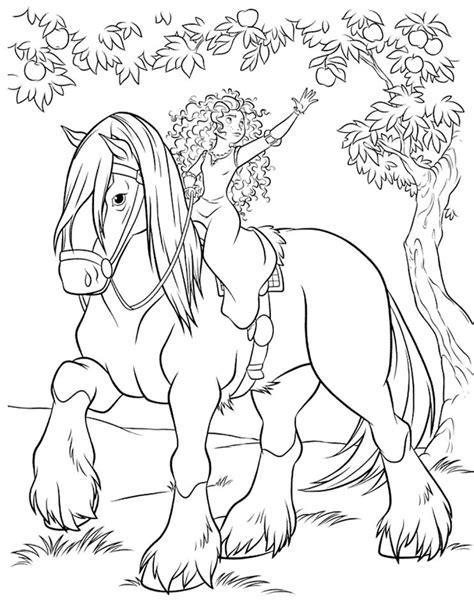 pony ride coloring pages kolorowanki merida waleczna malowanki wydruku