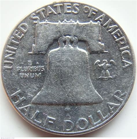 half dollar 1950 half dollar franklin 1948 1963 united states of america coin 39942