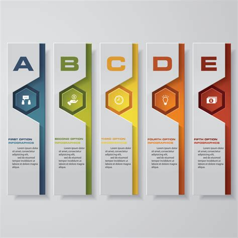 vertical layout web design vertical banner infgraphic paper vector 01