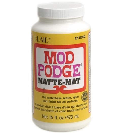 Decoupage Modge Podge - plaid modge podge 16 oz matte at joann