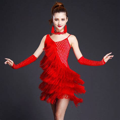 christmas attire for dance contest womens fringe salsa ballroom competition dress costume clothing wear ebay