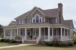 wrap around porches houseplans com house plan 59952 at familyhomeplans com