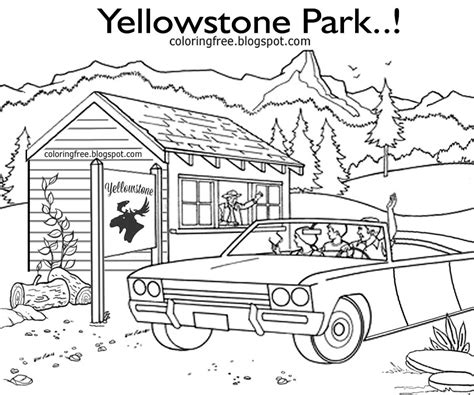 coloring pages yellowstone yellowstone national park animals coloring pages