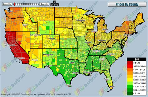 gas prices map usa california indexmundi