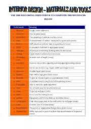 home design vocabulary english teaching worksheets at home