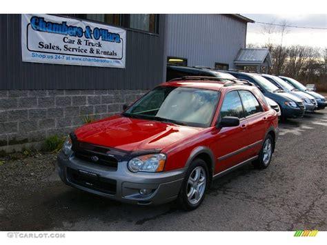 red subaru outback 2004 san remo red subaru impreza outback sport wagon
