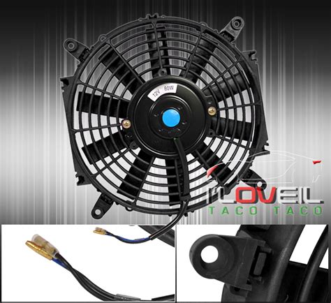 e36 electric fan kit 7 quot black radiator thin slim electric power fan