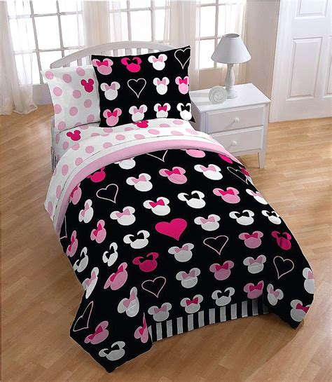 minnie mouse comforter set twin disney love minnie mouse pink reversible comforter
