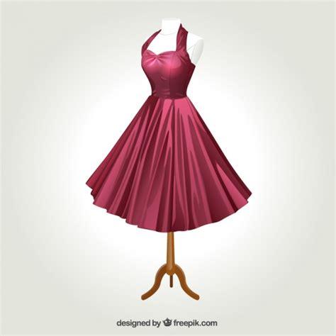 imagenes de outfits vintage retro dress vector premium download