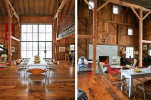 Pole Barn Home Interiors Old Barn Transformed Into A Stylishly Modern And Fully