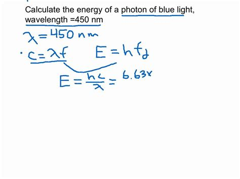 frequency of light calculator calculating the energy of a photon youtube