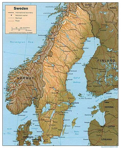political map of scandinavia maps of sweden detailed map of sweden in