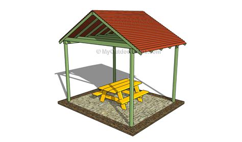 outdoor shelter plans picnic shelter plans free outdoor plans diy shed