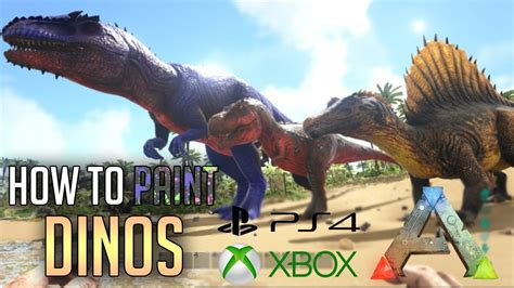 ark survival spray painted xbox one ark ps4 how to paint dinos admin commands ps4 xbox