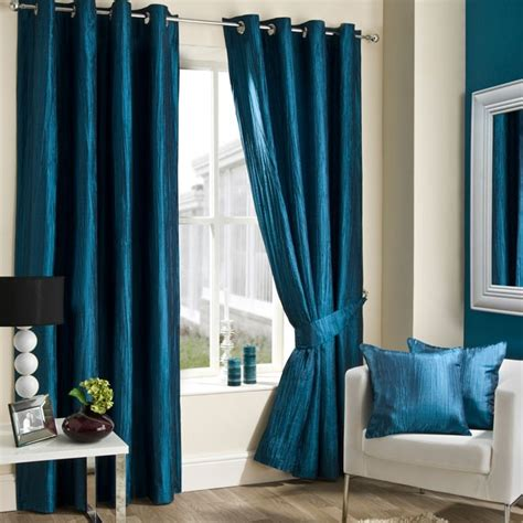 Teal Blue Curtains Drapes Teal Crushed Taffeta Curtain Collection Dunelm Mill Living Room Shops Teal