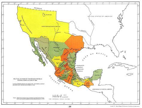 map de mexico y usa mapa de mexico y estados unidos politico