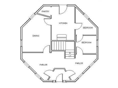 hexagon tree house plans gunnison octagonal house floor plan images frompo