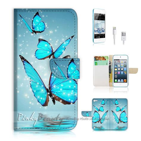 Butterfly Touch L by Ipod Itouch Touch 5 Print Flip Wallet Cover