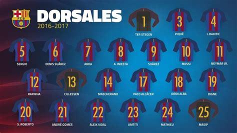 kit jugadores de ftbol bara vs madrid 10p los dorsales del fc barcelona 2017
