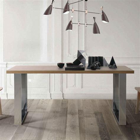 Table Bois Pied Metal 1223 by Table Bois Pied Metal Sold Table Plateau Bois Pied Metal
