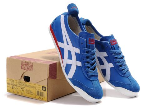 womens onitsuka tiger blue white mexico 66 shoes hl202 6689 usd72 99 onitsuka tiger