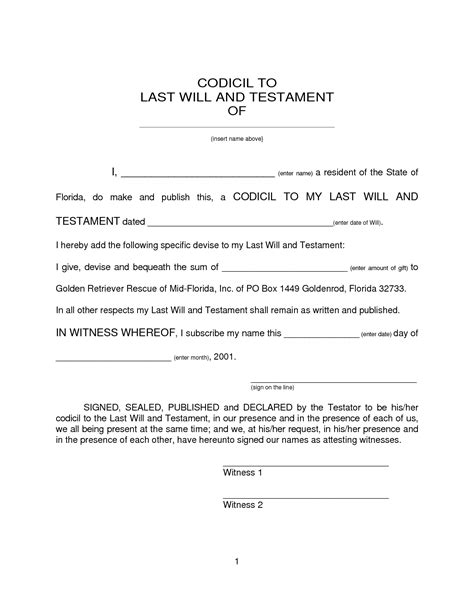 best photos of printable last will and testament format