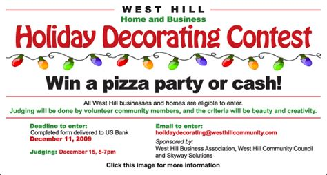 office holiday decorating contest flyer decorating contest criteria ideas decorating