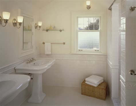 cream tiled bathroom ideas his and her pedestal sinks traditional bathroom