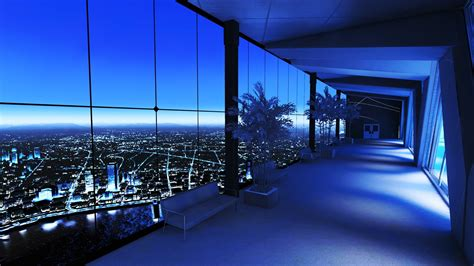 interior design apartment with city view desktop wallpaper download wallpapers download 2560x1440 cityscapes night