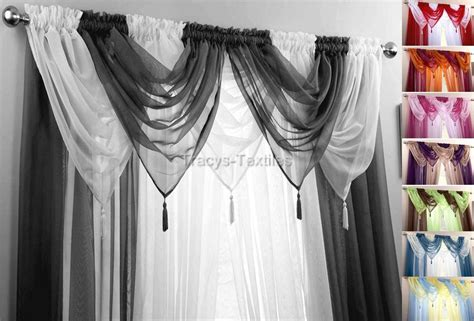 drape net voile swag swags tassle decorative net curtain drapes