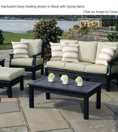 envirowood outdoor furniture envirowood outdoor poly furniture seaside casual sea090 nantucket sofa