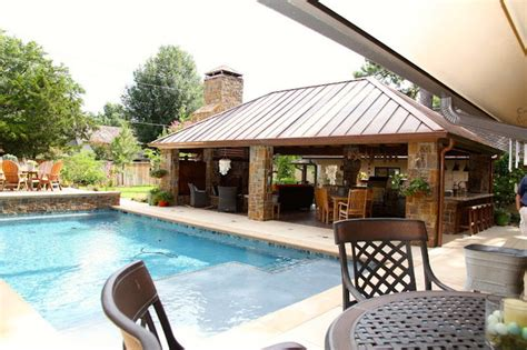 outdoor living spaces with pool outdoor living kitchen space eclectic pool other