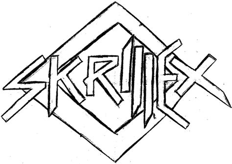 How To Draw Skrillex Logo
