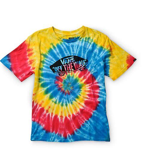 vans boys tripped out otw tie dye t shirt
