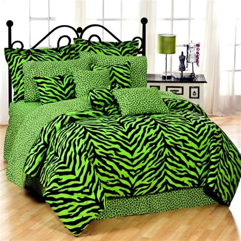 Shop Karin Maki Lime Green Zebra Bedding The Home Green Bed