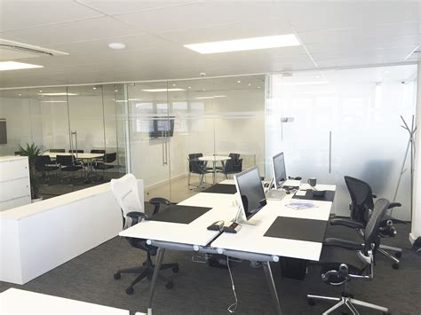 Mj It Office East glass partitioning at mj property investments uk ltd