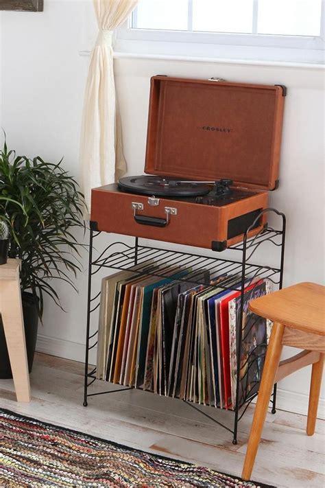 record player table and storage vinyl record storage shelf vintage records retro record
