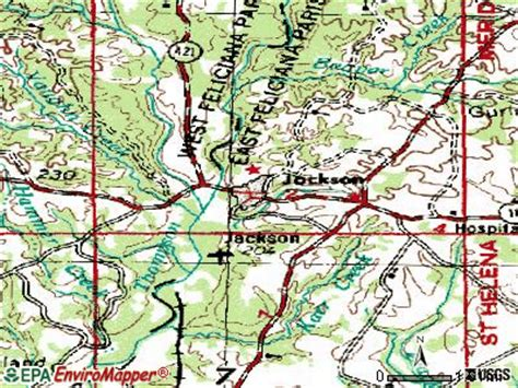 jackson louisiana map jackson louisiana la 70748 profile population maps