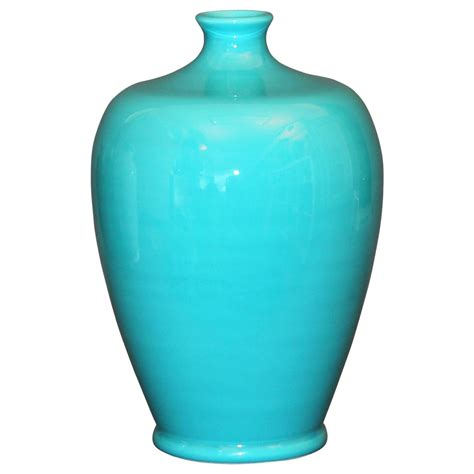 Turquoise Vase by Vintage Marco Zanini For Bitossi Italian Pottery