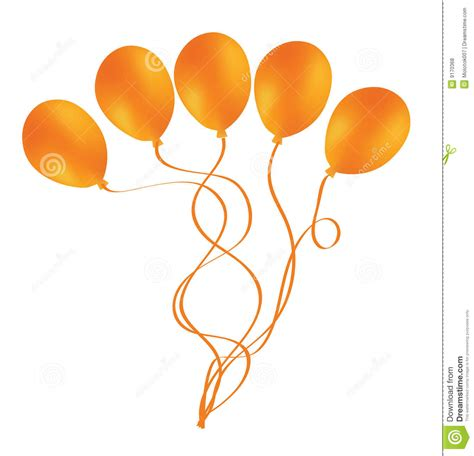 up a balloon with orange beautiful orange balloon in the air stock vector