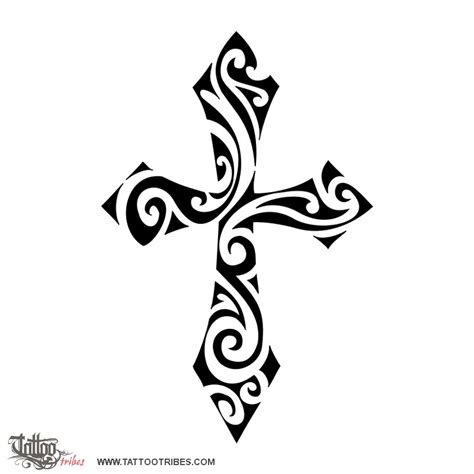 cross tribal tattoos of tribal cross faith custom