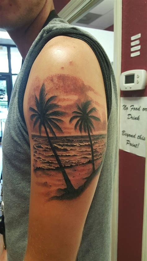 beach wave tattoo designs waves palm trees tattoos by garry deronda