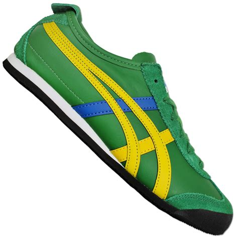 Po Onitsuka Tiger Mexico 66 Leather Yellow Green asics onitsuka tiger mexico 66 sneaker s shoes suede green yellow blue ebay