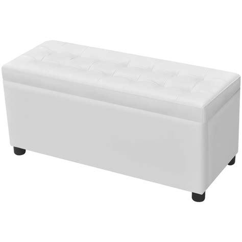 cassapanca con seduta articoli per cassapanca in pelle artificiale bianco con